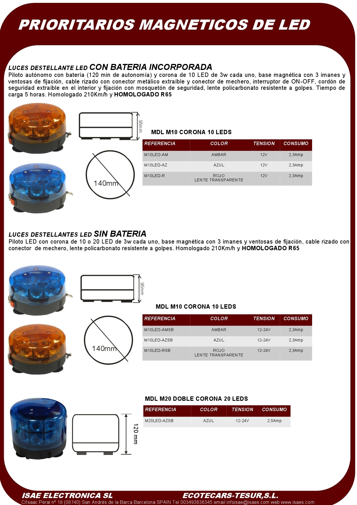 Catalogo productos ISAE-TESUR Pilotos de Led (1)
